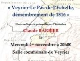 Conférence de La Mémoire de Veyrier